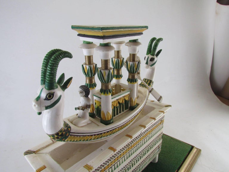 American Hand Built Replica of a Tutankhamun Era Ship by Ramon Parga, circa 1940s For Sale