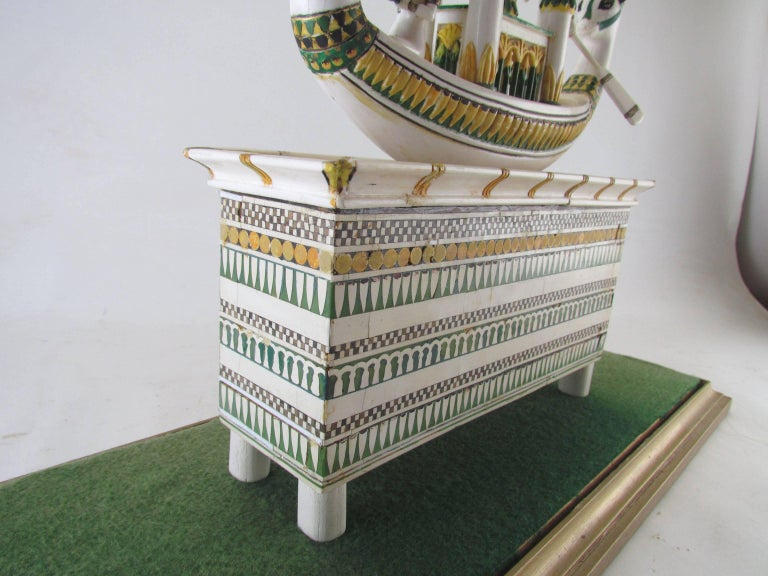 Bone Hand Built Replica of a Tutankhamun Era Ship by Ramon Parga, circa 1940s For Sale