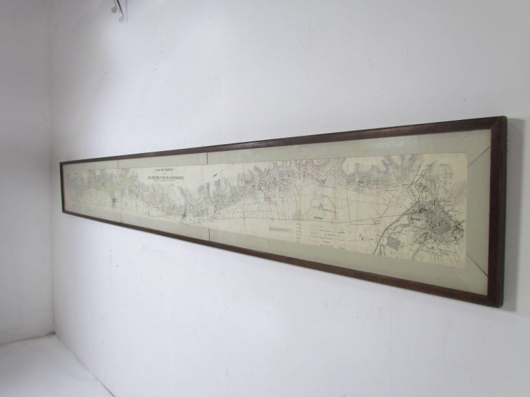 Panoramic Antique Lithographic Map for Louis Latour, Burgundy France Region For Sale 3
