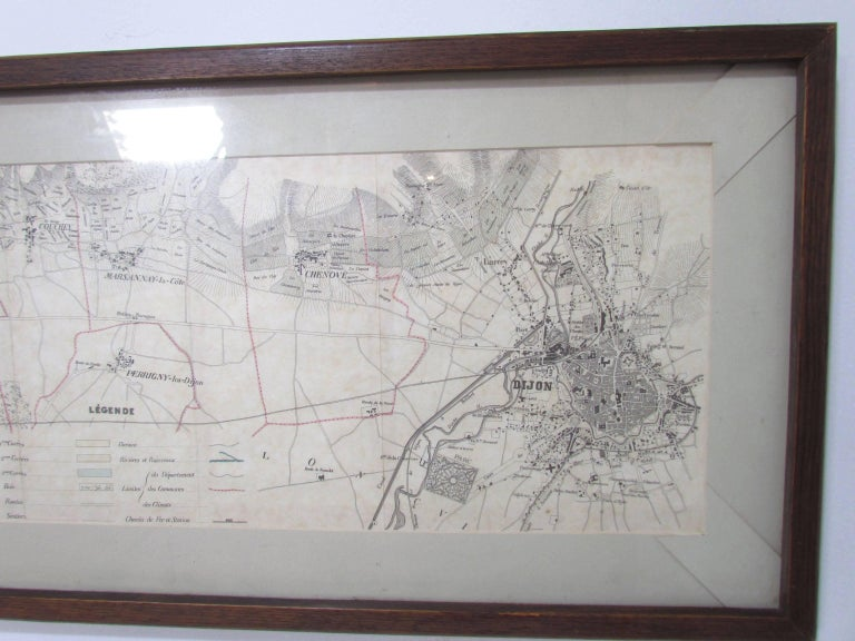 Panoramic Antique Lithographic Map for Louis Latour, Burgundy France Region For Sale 2