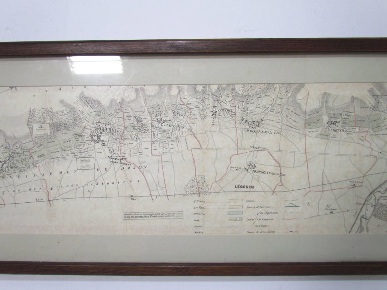 Panoramic Antique Lithographic Map for Louis Latour, Burgundy France Region For Sale 1