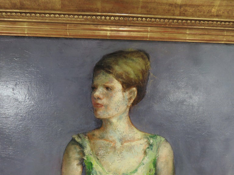 Mid-Century Modern Portrait of an Elegant Young Ballerina by Charles Lanier, circa 1960s For Sale