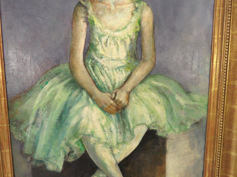 American Portrait of an Elegant Young Ballerina by Charles Lanier, circa 1960s For Sale