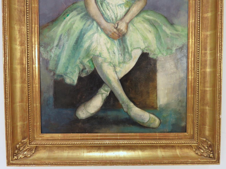 Portrait of an Elegant Young Ballerina by Charles Lanier, circa 1960s In Good Condition For Sale In Peabody, MA