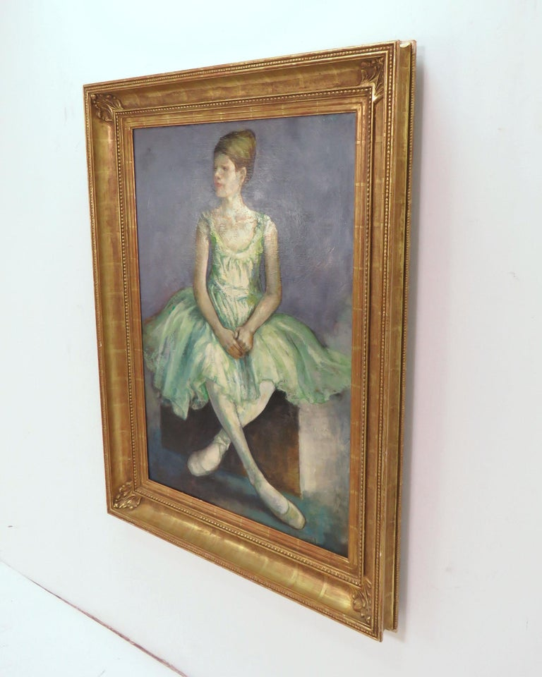 Mid-20th Century Portrait of an Elegant Young Ballerina by Charles Lanier, circa 1960s For Sale