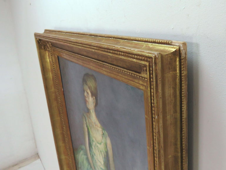 Canvas Portrait of an Elegant Young Ballerina by Charles Lanier, circa 1960s For Sale