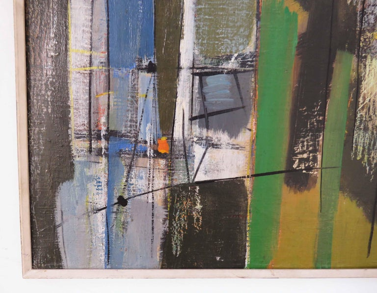 Abstract Expressionist Painting by Important Israeli Artist Shmuel Raayoni In Good Condition For Sale In Peabody, MA