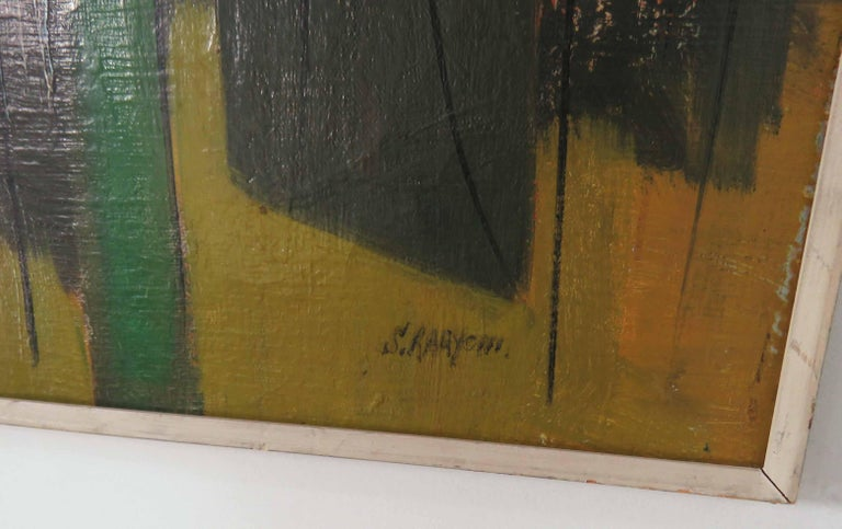 Abstract Expressionist Painting by Important Israeli Artist Shmuel Raayoni For Sale 1