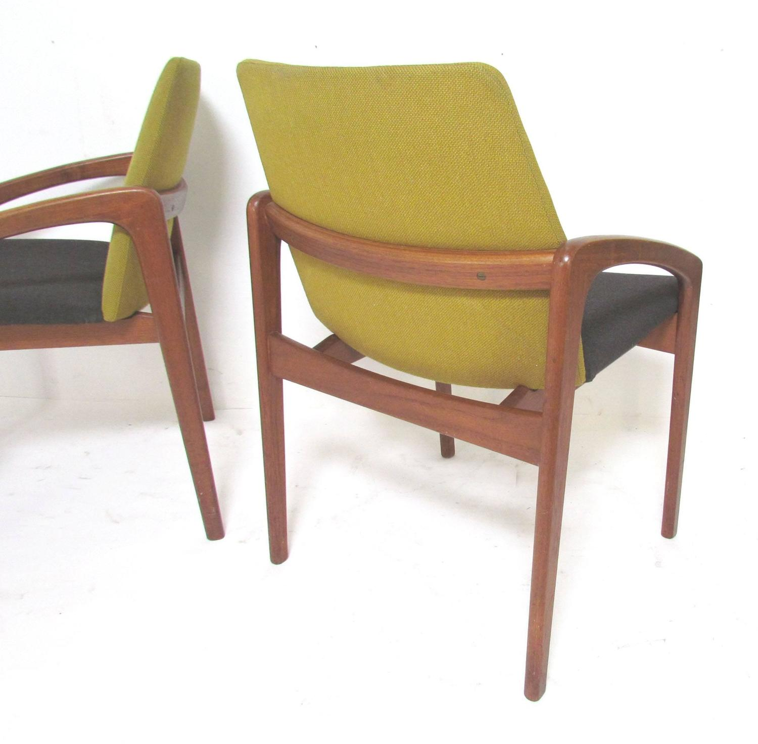 Set of six danish teak dining chairs by kai kristiansen at 1stdibs - Kai kristiansen chairs ...