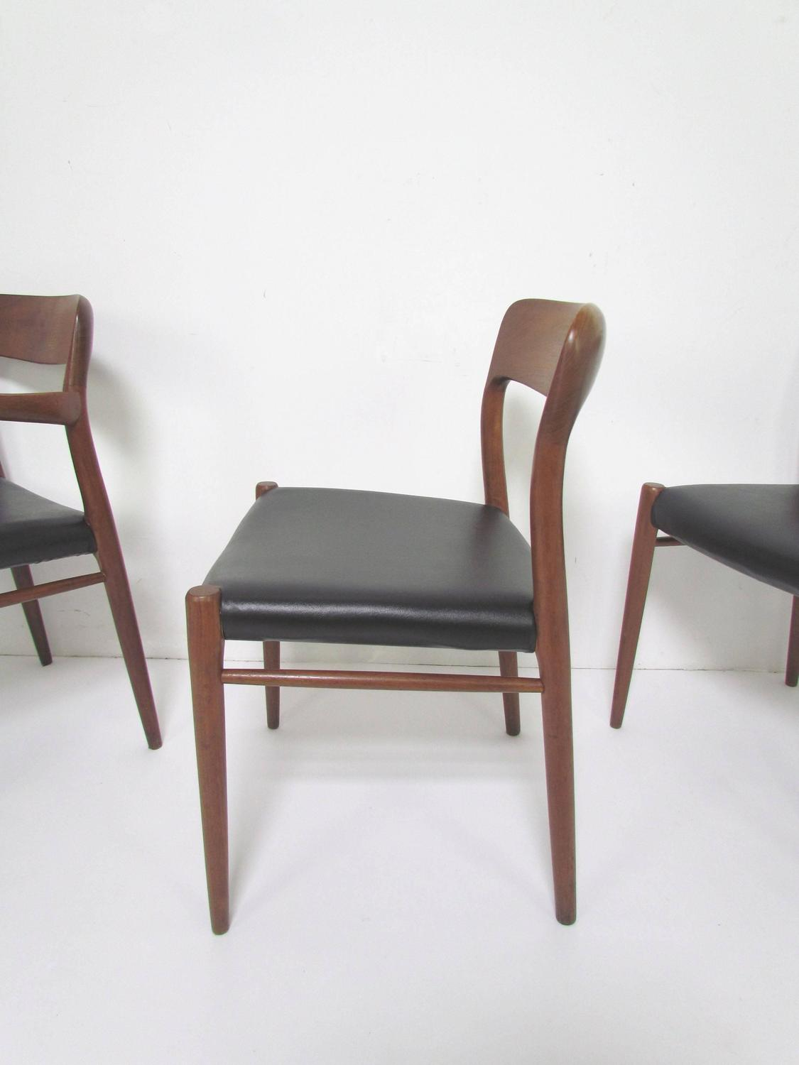 Set Of Ten Danish Teak Dining Chairs By Niels Moller For JL Moller Circa 196