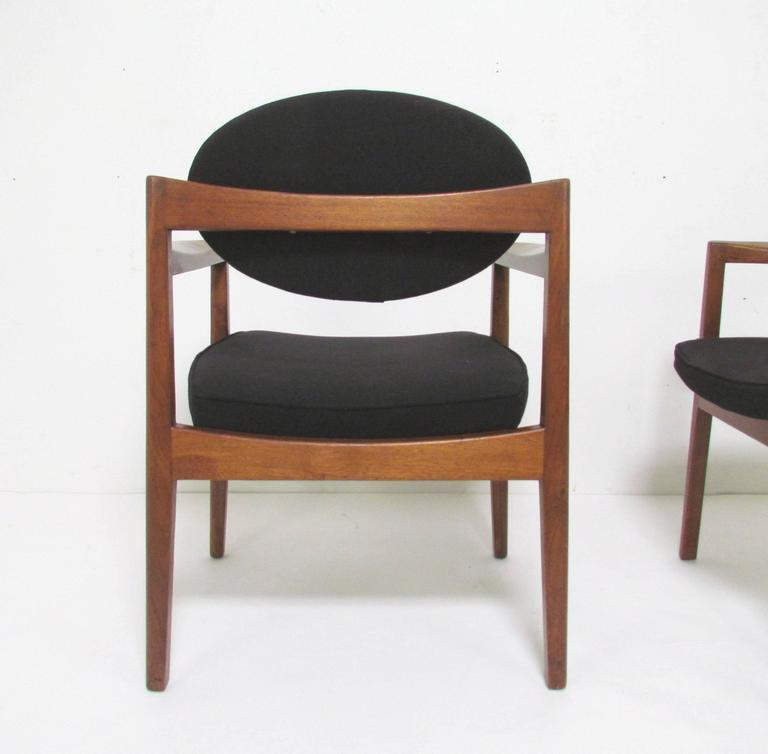 Set Of Four Mid Century Modern Dining Arm Chairs By Jens