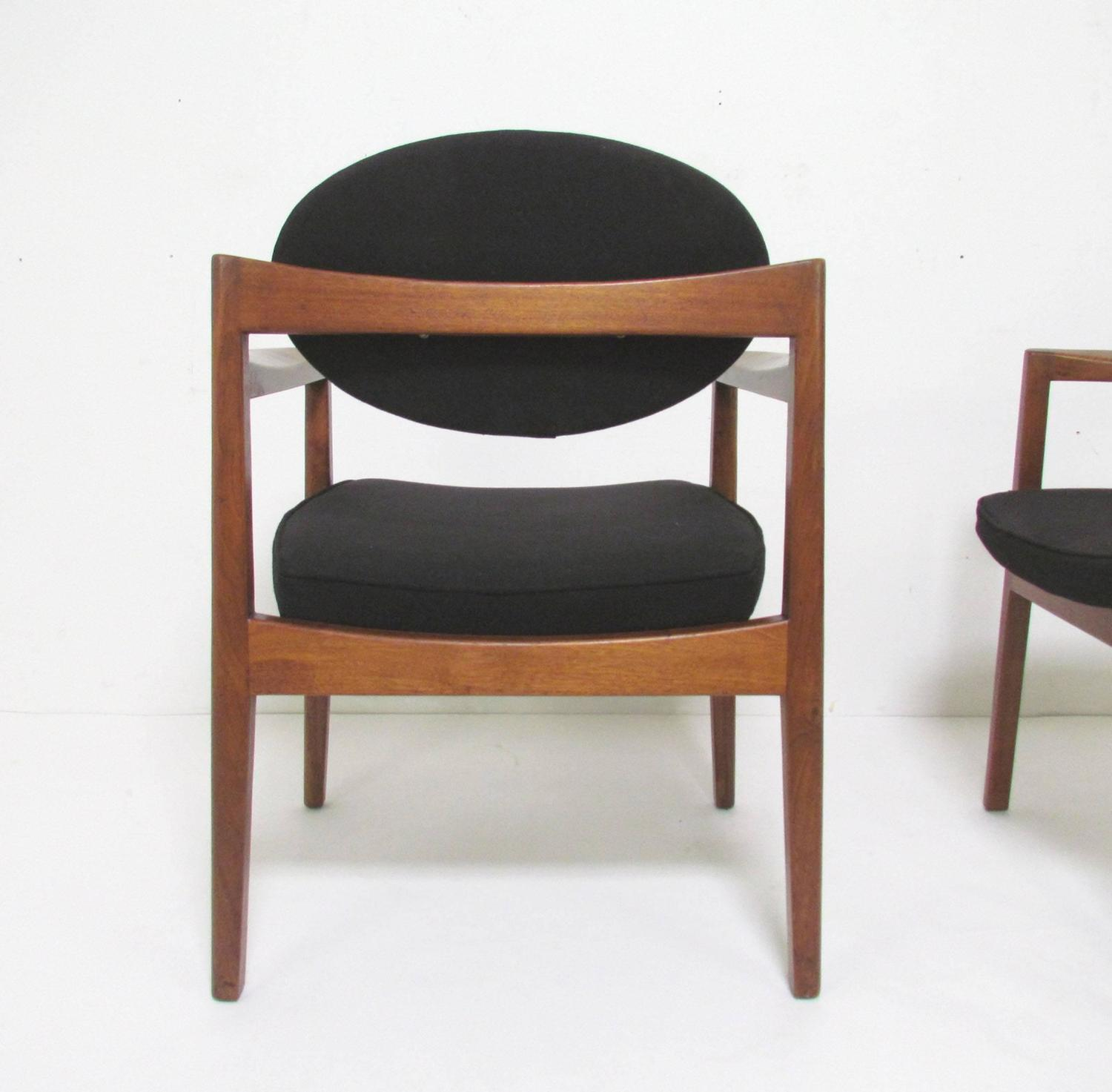 mid century modern dining arm chairs by jens risom for sale at 1stdibs