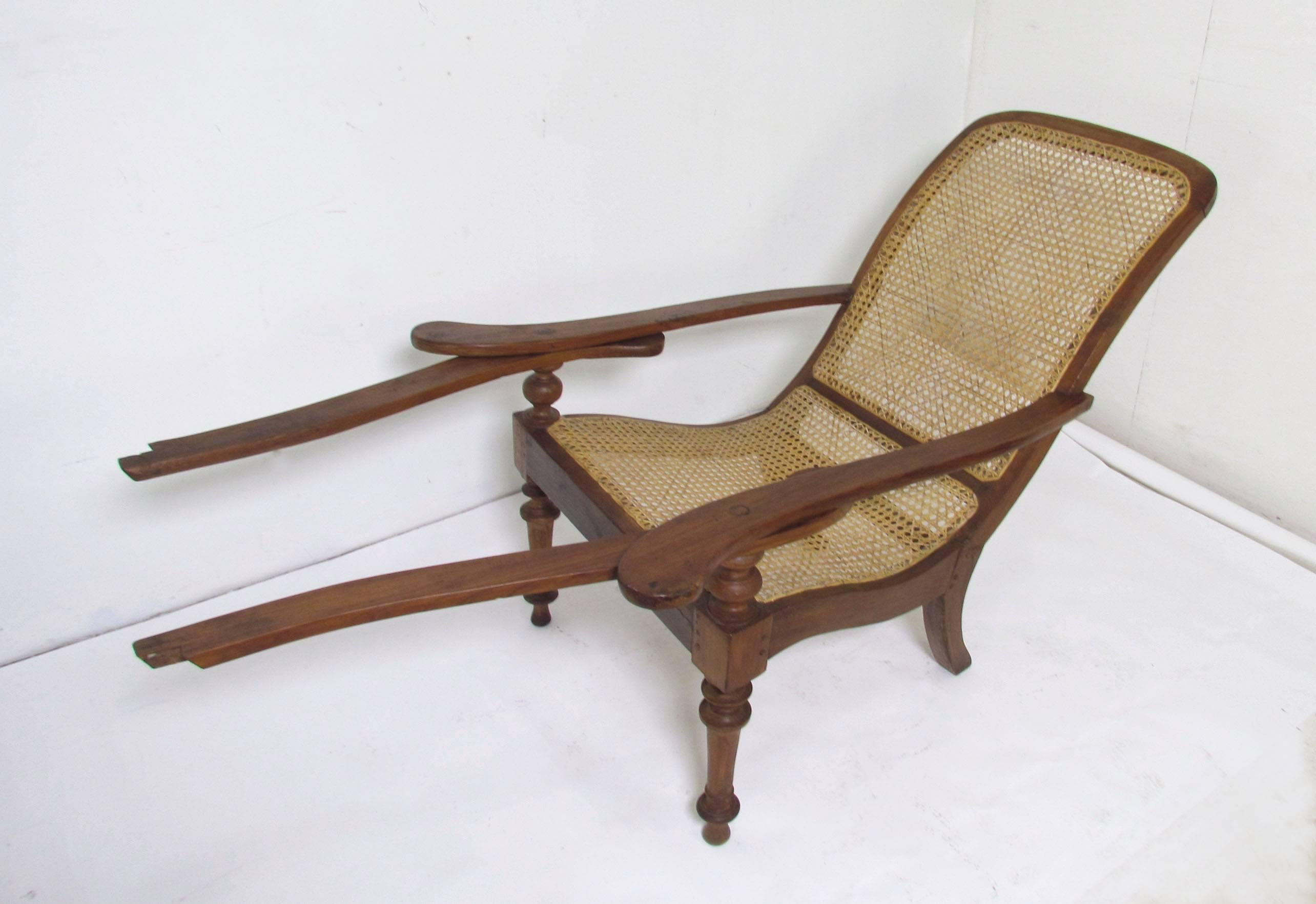 Antique Paddle Arm British Colonial Plantation Lounge Chairs For Sale At  1stdibs