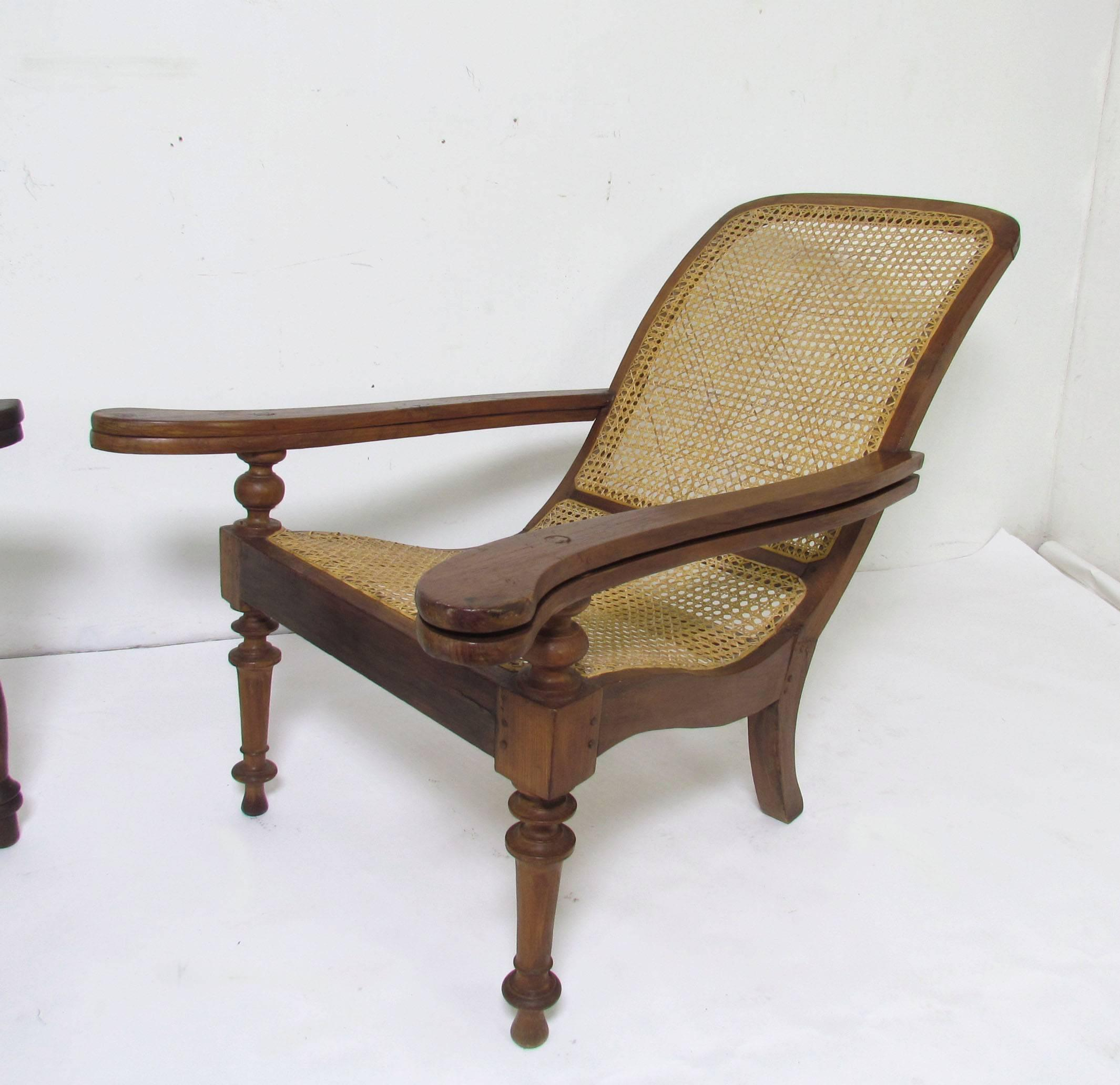 Antique Paddle Arm British Colonial Plantation Lounge Chairs For At 1stdibs