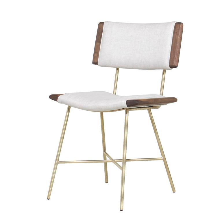 Alessandra Chair with Brass Frame by Thomas Hayes Studio 1