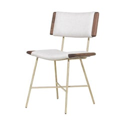 Alessandra Chair with Brass Frame by Thomas Hayes Studio
