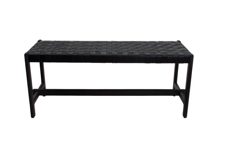 Leather Strap Bench by Thomas Hayes Studio 2