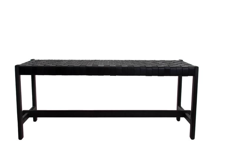 Leather Strap Bench by Thomas Hayes Studio 7
