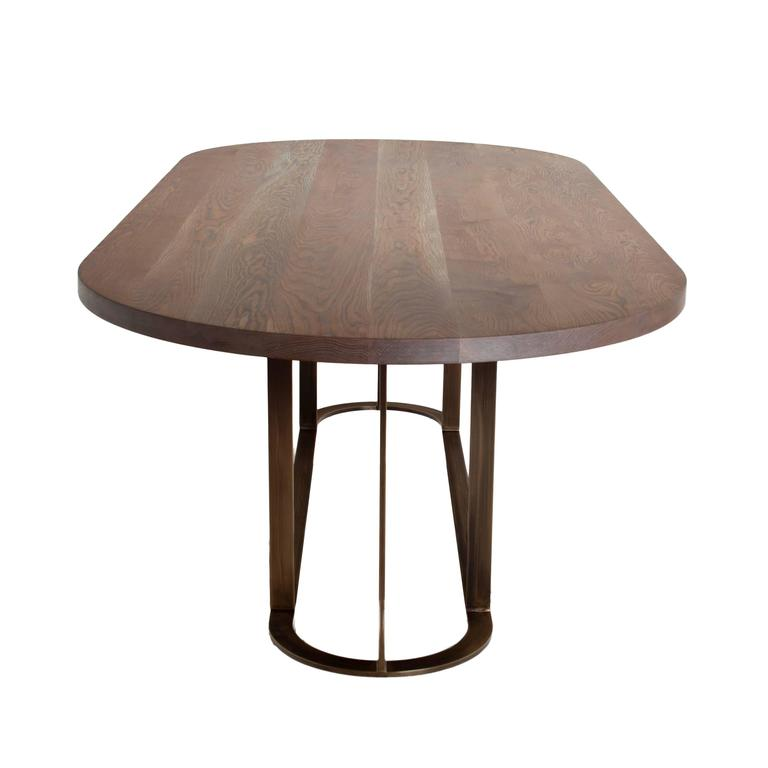 Coyler Dining Table with Solid Bronze Base by Thomas Hayes  : 5l from www.1stdibs.com size 768 x 768 jpeg 22kB