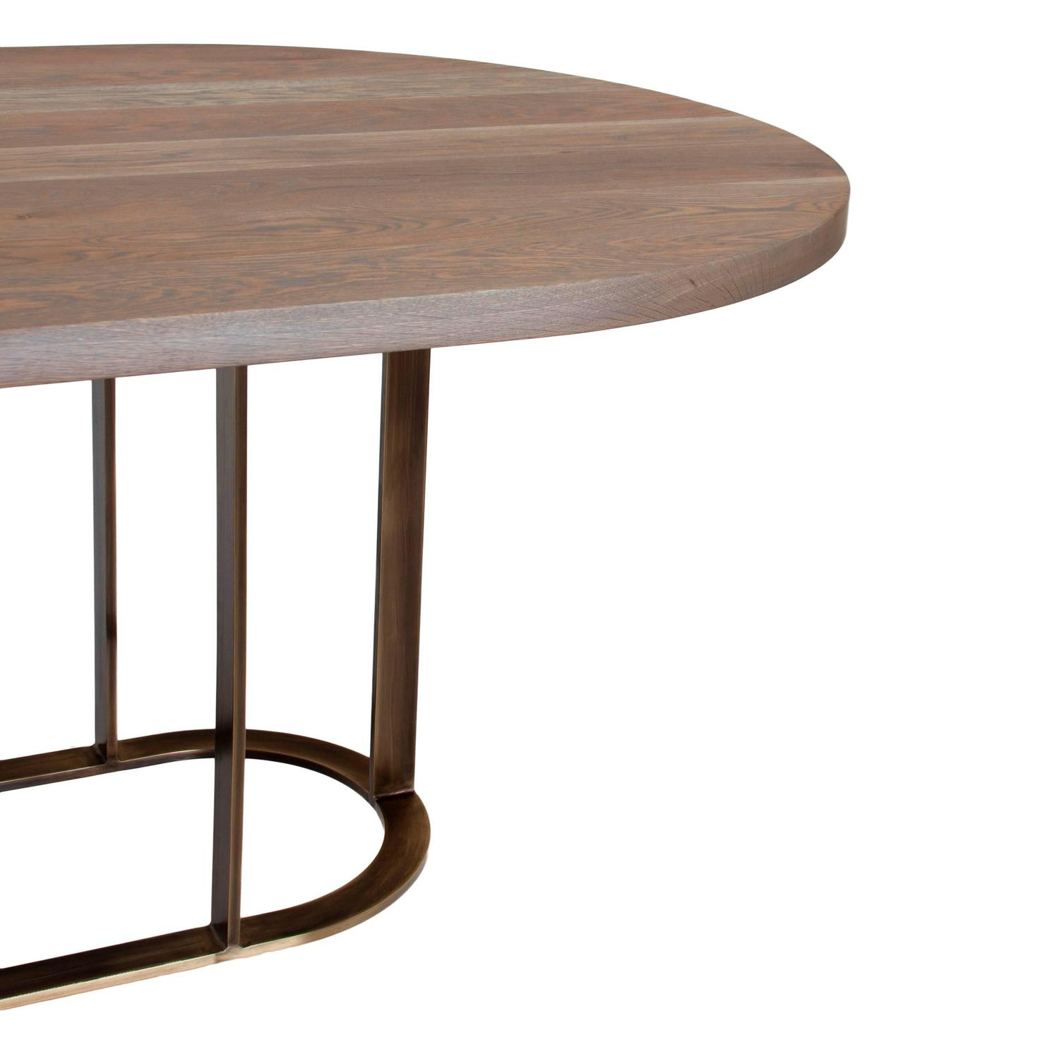 Coyler Dining Table with Solid Bronze Base by Thomas Hayes  : 3z from www.1stdibs.com size 1500 x 1500 jpeg 78kB