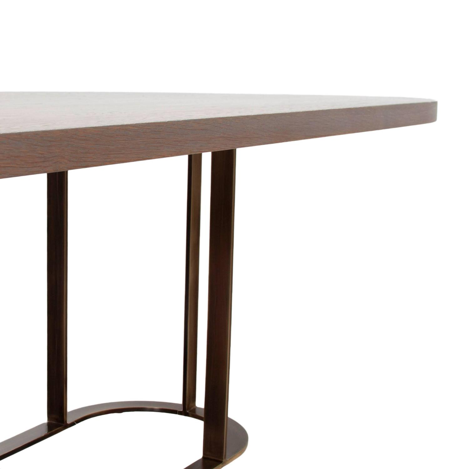 Coyler Dining Table with Solid Bronze Base by Thomas Hayes  : 7z from www.1stdibs.com size 1500 x 1500 jpeg 53kB