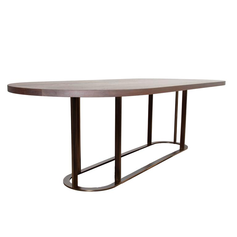 Coyler Dining Table with Solid Bronze Base by Thomas Hayes  : 8l from www.1stdibs.com size 768 x 768 jpeg 17kB