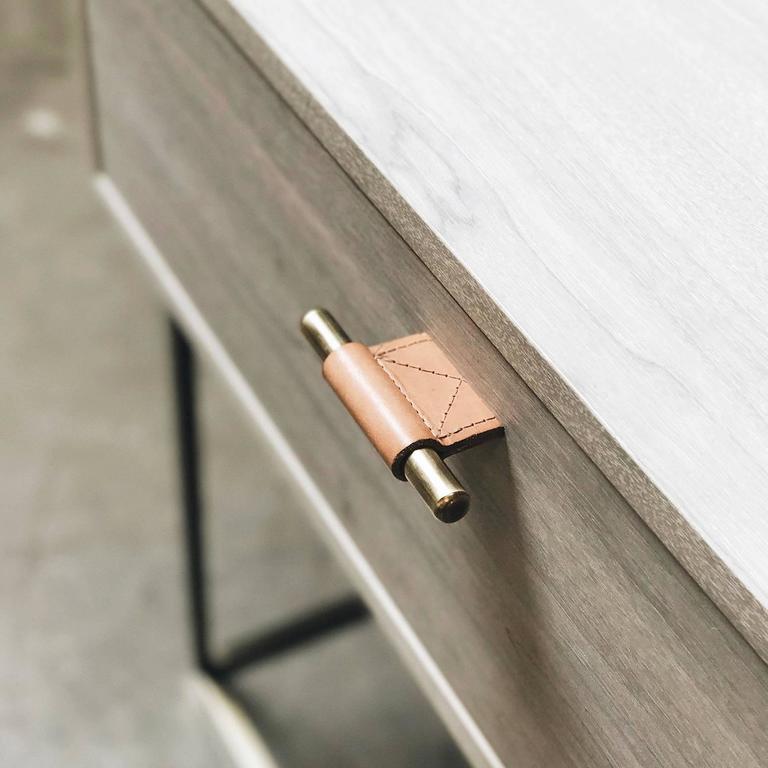 Veneer Kerry Side Table by Thomas Hayes Studio For Sale
