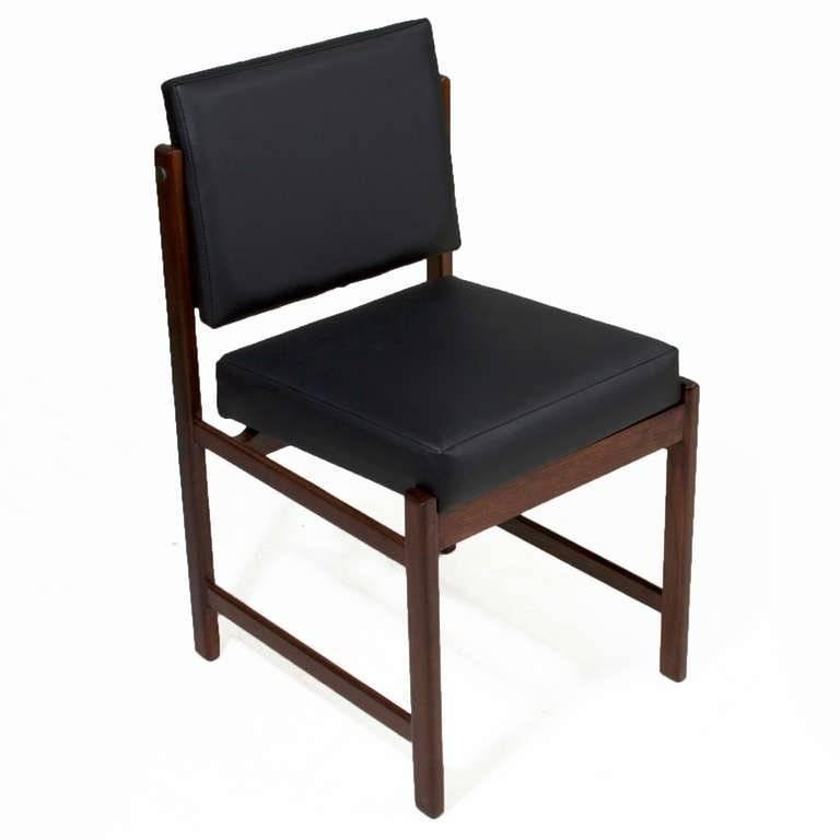 Basic Pivot Back Dining Chair in Walnut by Thomas Hayes Studio 3