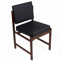 Basic Pivot Back Dining Chair in Walnut by Thomas Hayes Studio