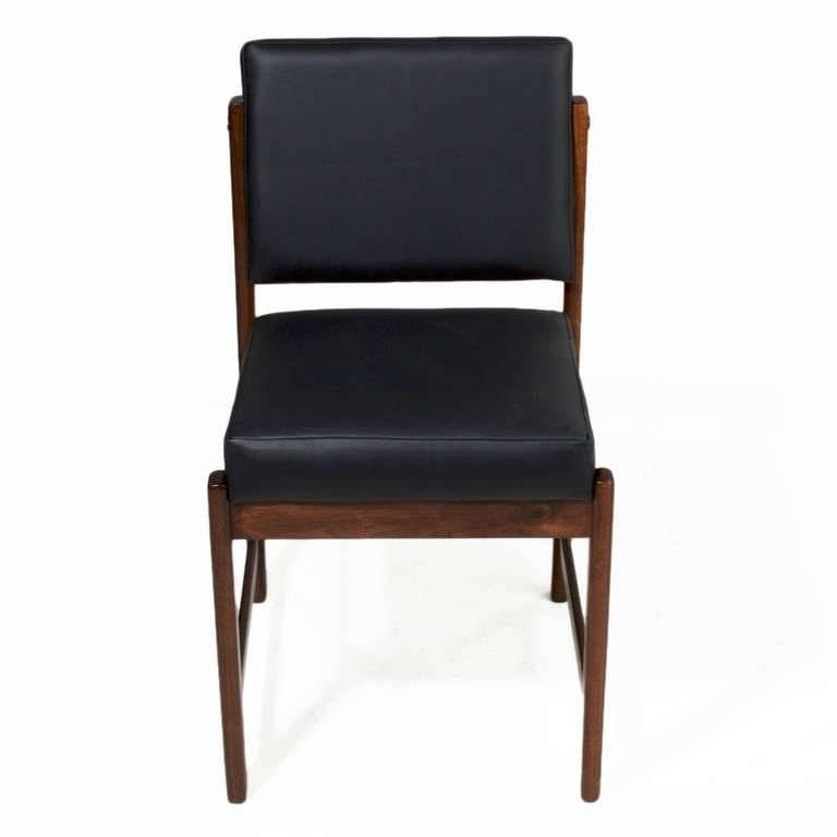 Basic Pivot Back Dining Chair in Walnut by Thomas Hayes Studio 6