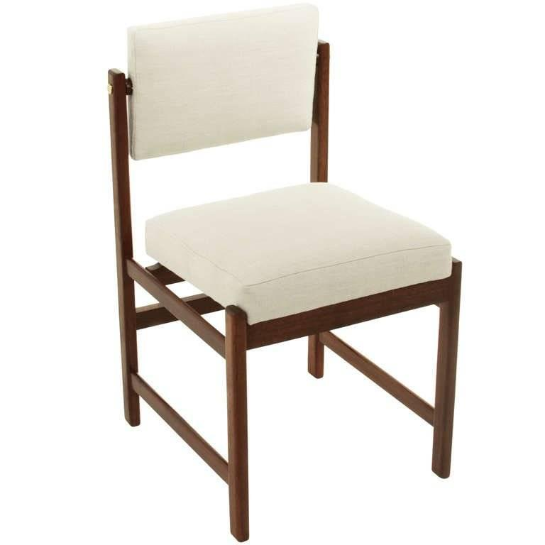 Basic Pivot Back Dining Chair in Walnut by Thomas Hayes Studio 7