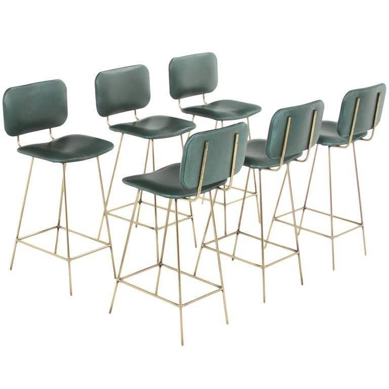 Contemporary Brass Petra Bar Stool by Thomas Hayes Gallery For Sale