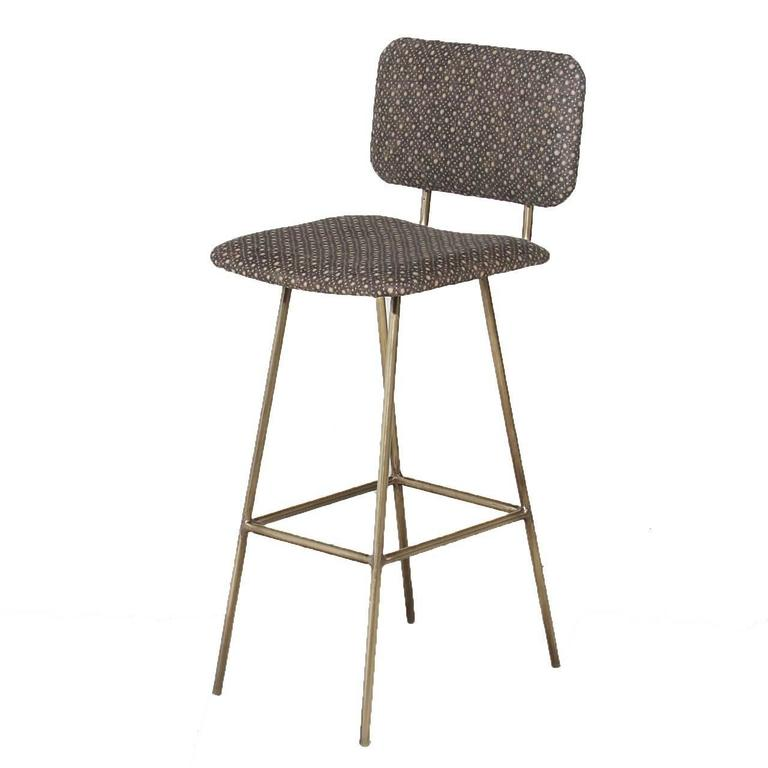 Brass Petra Bar Stool by Thomas Hayes Gallery For Sale 3