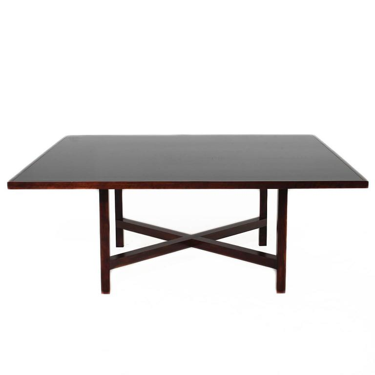 Large Square Rosewood Dining Table from Brazil at 1stdibs : 4l from www.1stdibs.com size 768 x 768 jpeg 15kB