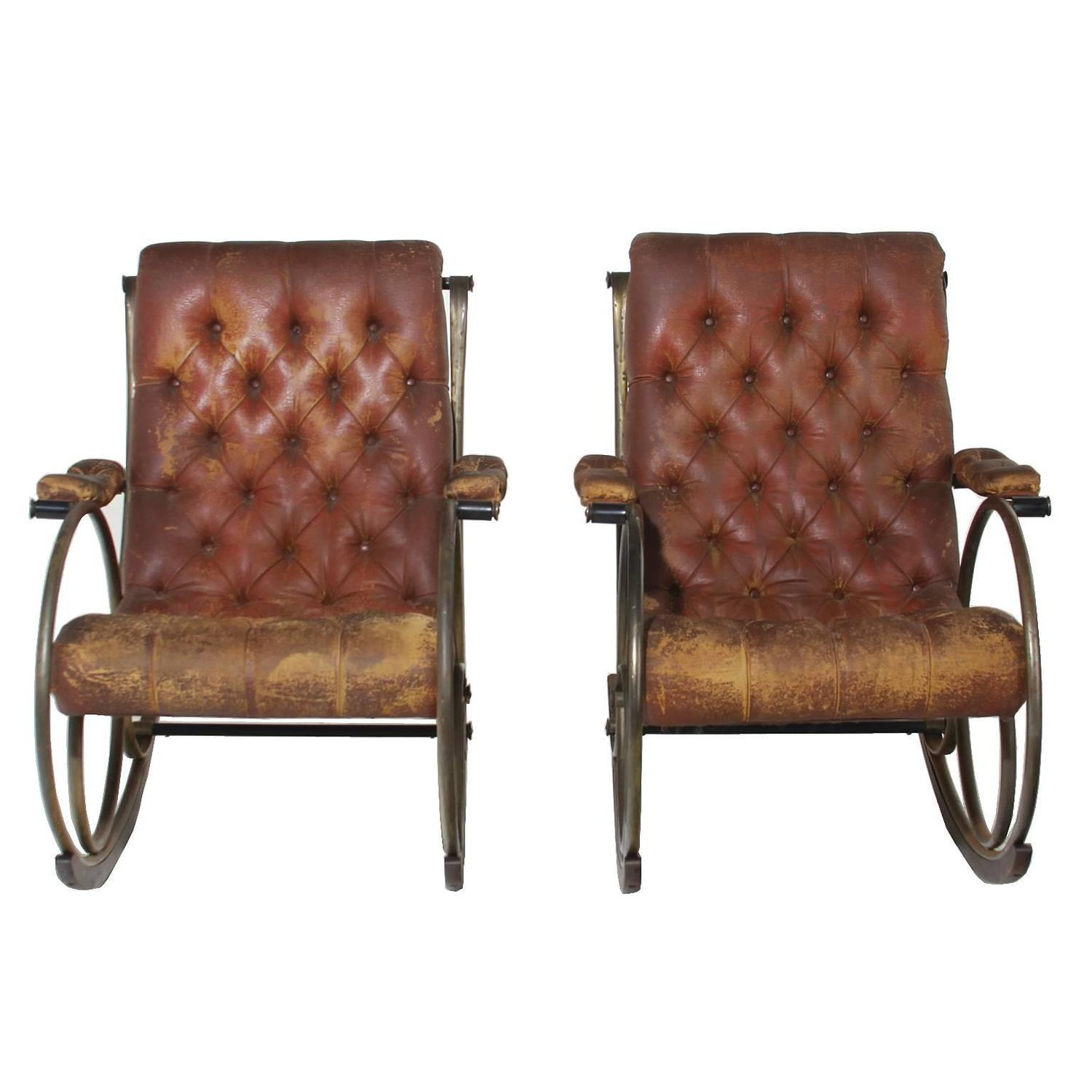 Pair Of Sculptural Rocking Chairs By Lee Woodard At 1stdibs. Full resolution  pic, nominally Width 1500 Height 1500 pixels, pic with #8E663D.