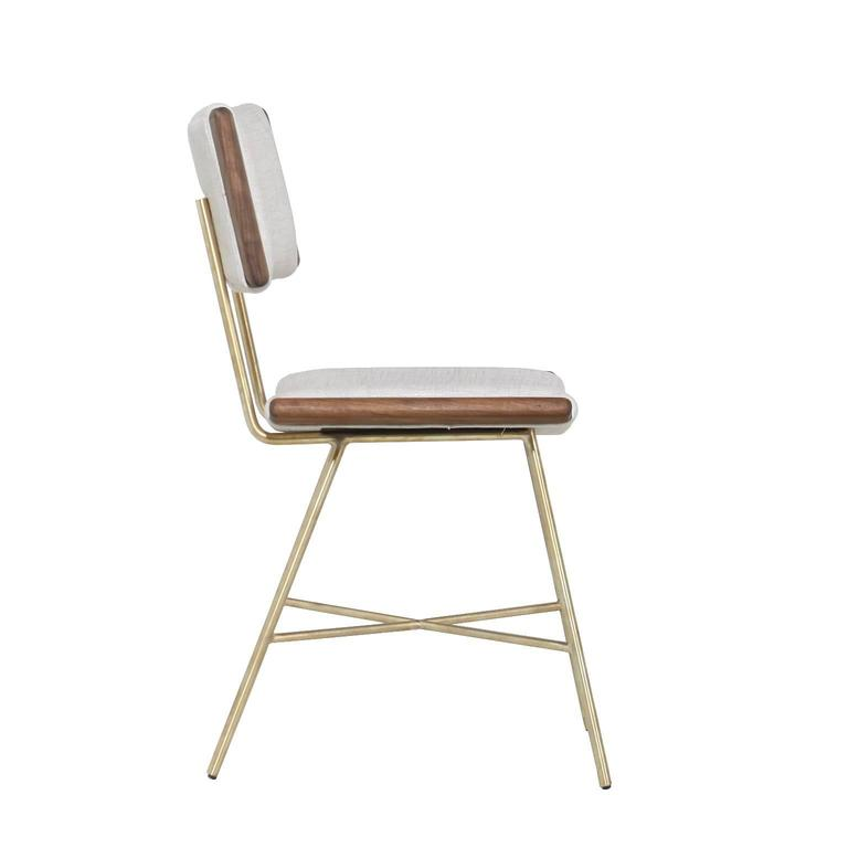 Alessandra Chair with Brass Frame by Thomas Hayes Studio 3