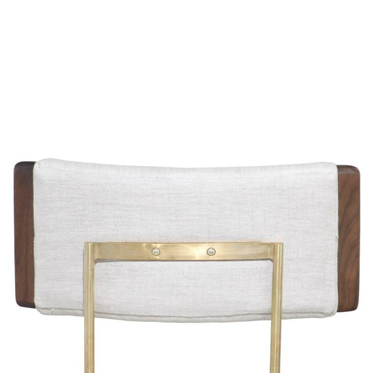 Alessandra Chair with Brass Frame by Thomas Hayes Studio 5
