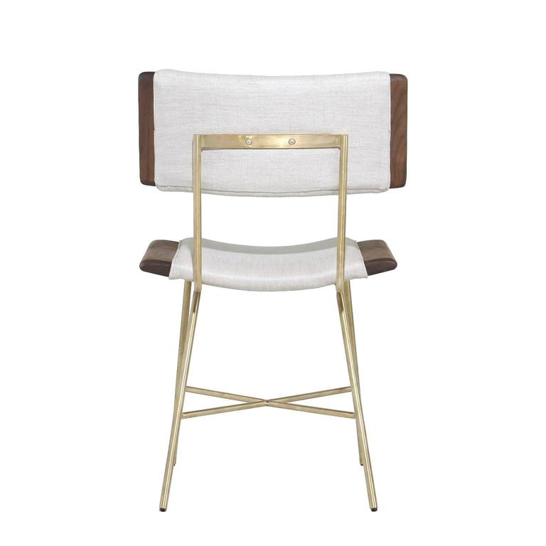 Alessandra Chair with Brass Frame by Thomas Hayes Studio 4