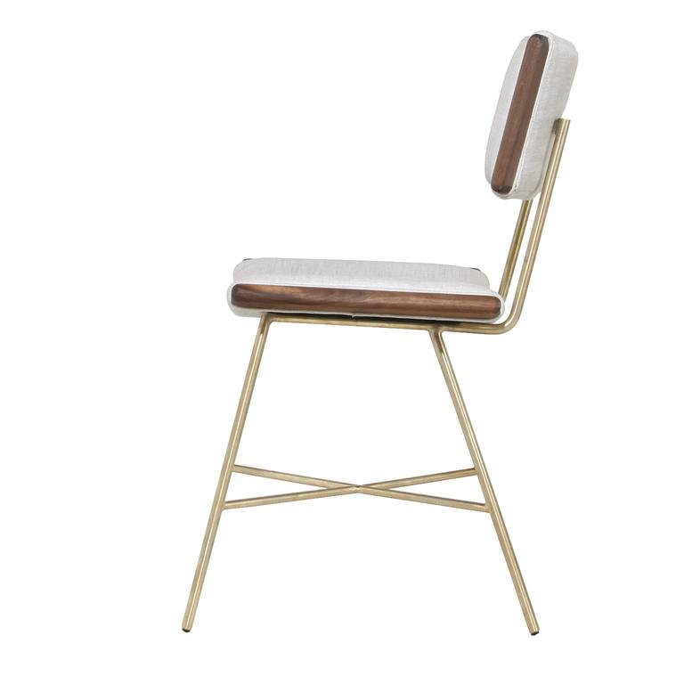 Alessandra Chair with Brass Frame by Thomas Hayes Studio 2