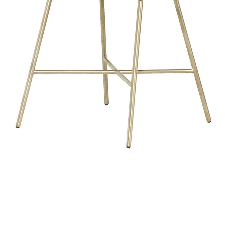 Alessandra Chair with Brass Frame by Thomas Hayes Studio 7
