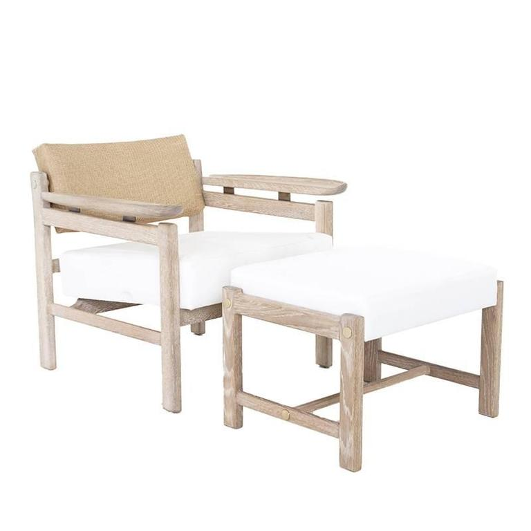 This custom, elegant white oak lounge chair by Thomas Hayes Studio has a pivoting back, floating wood arms, and an upholstered seat. The angle of the back creates good lumbar support and each handcrafted chair is sturdy, comfortable and versatile.