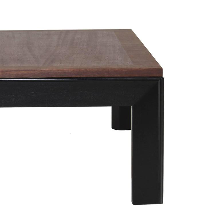 Mahogany And Black Lacquer Long Coffee Table By Widdicomb For Sale At 1stdibs