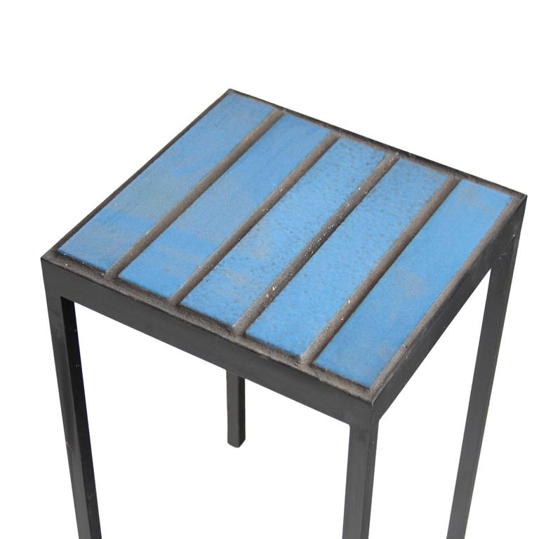 Mid-Century Modern Tile Side Table by Thomas Hayes Studio For Sale