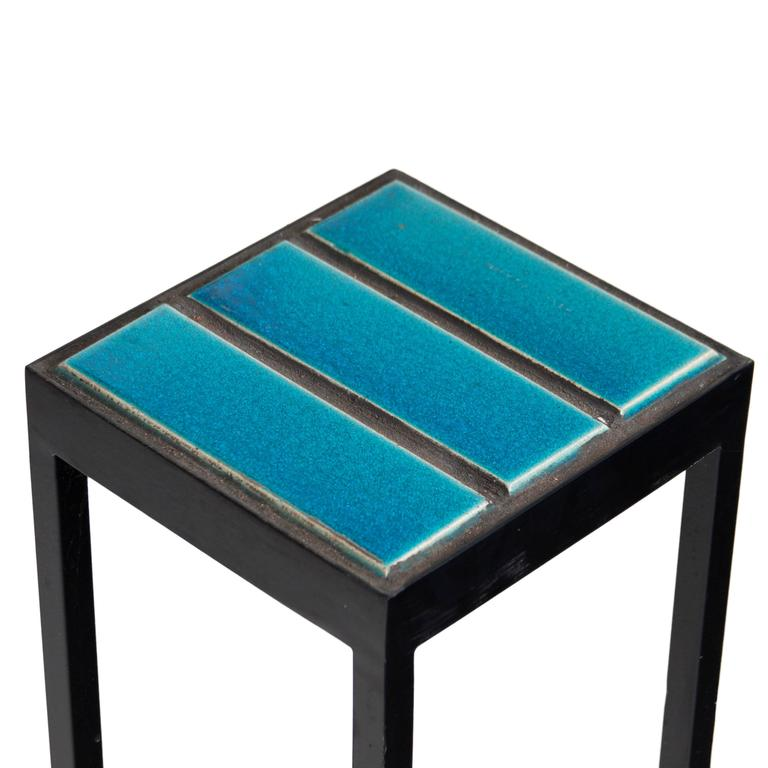 Contemporary Tile Side Table by Thomas Hayes Studio For Sale