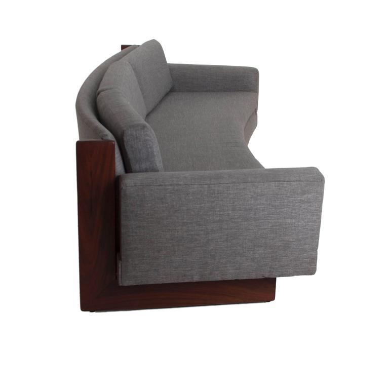 Mid-Century Curved Sofa 4