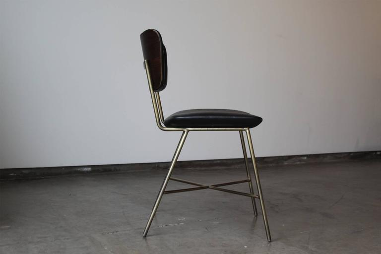 Cojo Dining Chair in Brass by Thomas Hayes Studio 3