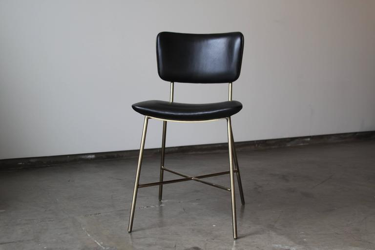 Cojo Dining Chair in Brass by Thomas Hayes Studio 6
