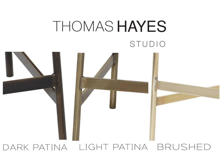Cojo Dining Chair in Brass by Thomas Hayes Studio 10