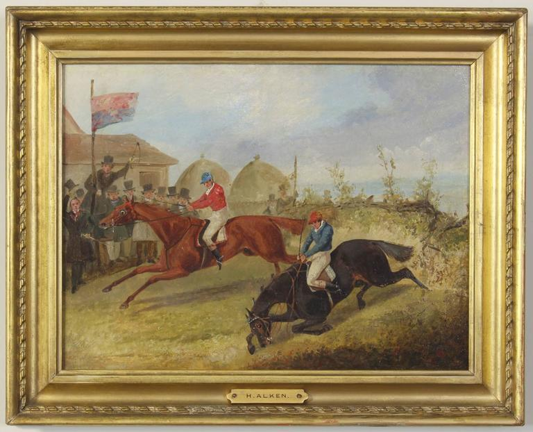 Sporting Art Pair of Early 19th Century English Sporting Paintings by Henry Alken