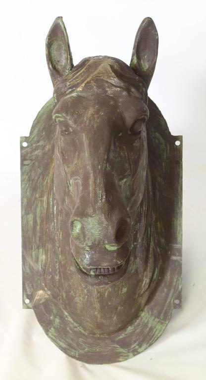 Vintage Cast Iron Horse Head At 1stdibs